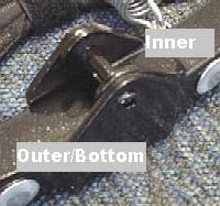 Locating the inner and outer hinge portions